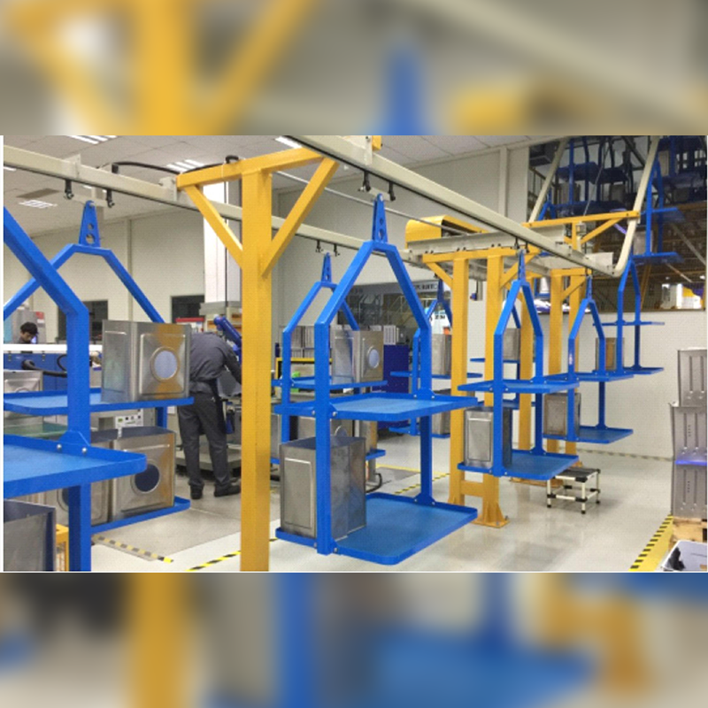 Suspension conveyor line